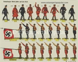 IMAGEN 12.- Hitler y los dirigentes nazis + unidades de las SA y SS, nº 802