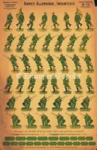 Imagen 17, mostrando un pliego de la serie de Gerardin con recortables pecho con espalda (aspect complet)
