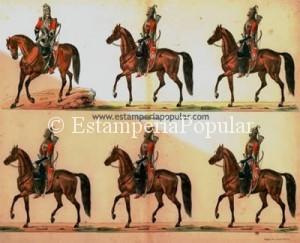 IMAGEN 2.-Tscherkessen (caballería del Turkestán) – Mainz bei Joseph Scholz, Nº 6
