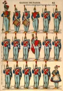 """Imagen 20.- Pliego litografiado – o posiblemente al """"clichage""""- con la firma """"Fabrique de Pellerin et Cie…"""" en vertical impreso en principio entre 1860 y 1870 (Col R de Francisco)"""