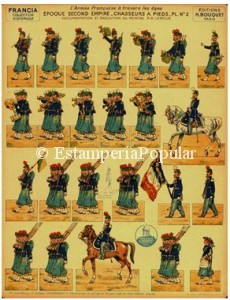 Imagen 25 representando la plancha nº 4 de la colección FRANCIA de H Bouquet