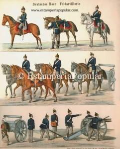 IMAGEN 6.- Deutsches Heer Feldartillerie. Mainz, Druck und Verlag von Jos. Scholz nº 226