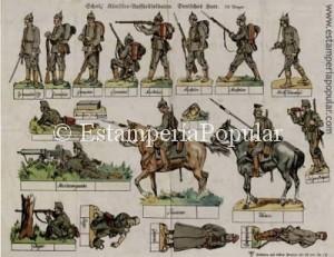 IMAGEN 9.- Rünstler – Ausstellsoldaten-Deutsches Heer. Nº 1K
