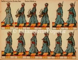 Imagen 55.- Hoja de Schreiber de la serie dedicada al ejército austríaco (Col R de Francisco)