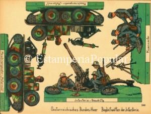 Imagen 56.- Otra hoja de la serie dedicada al ejército austriaco ( Col R de Francisco)