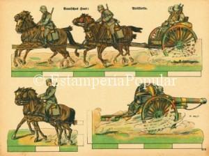 Imagen 57.- Hoja de otra serie diferente dedicada al ejército del II Reich (Col R de Francisco)