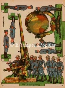 Imagen 58.- Hoja pequeño formato de Schreiber referido a tropas del IIIReich (Col de R. de Francisco)