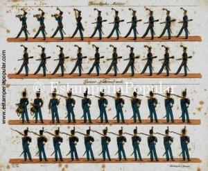 Imag 2.- Plancha en talla dulce de Trummer hacia 1820 (Col R de Francisco)