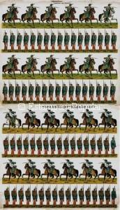 Imag 27.- Anverso y reverso del pliego nº 14 de la serie representando soldados españoles (Col R de Francisco)