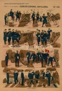 Hermoso pliego de la primera época de la casa Paluzie coloreado a mano y presentando una bandera roja que precisamente, fue la oficial del Cantón de Cartagena desde julio de 1873 hasta enero de 1874