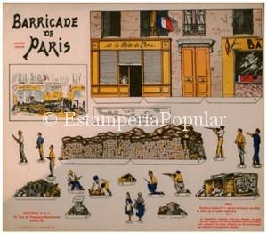 Imagen 63.- Expresiva plancha sobre la Liberación de Paris de E.A.F de la que desgraciadamente no conocemos el nombre del dibujante