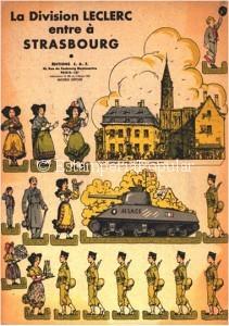 Imagen 65.- Emotiva plancha en homenaje a las tropas de la Segunda DB de Leclerc cuya IX Compañía del Regimiento de Marcha del Chad formada en su mayoría por exsoldados republicanos españoles sería también la primera en entrar en la ciudad el 23 de Noviembre de 1944