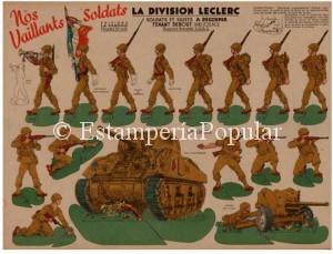 Imagen 69 representando la plancha nº 2 de Editions LA CHROMO con referencias – una vez más- a las tropas de Leclerc, demostrando su enorme predicamento entre el público francés del momento.