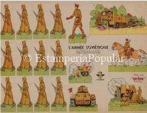 Imagen 70, en homenaje a l Ejército Soviético que no fue excesivamente habitual en los pliegos de soldados de la época