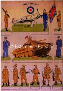 Imagen 77 con otro pliego de las Editions Willeb dedicado a las tropas británicas