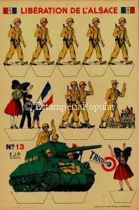 Imagen 88.- Cartonnage recortable de las editios E.J.P. de Angers hacia 1944