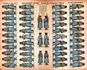 Imagen 6.- Plancha nº 2019 editada al igual que la nº 2015 hacia 1905 con ocasión de la contienda ruso-japonesa de 1904-1905 (FDRF)