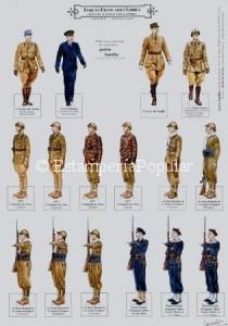 Imagen 86, con un recortable dedicado a las llamado ejército de la France Libre dibujado por Robert Lancelot bajo el patrocinio de la Asociación PATRIA FAMILIA hacia fianles de los 90
