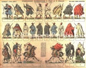 Imagen 3.- Plancha nº 2028 con figuras de rebeldes marroquíes (FDRF)