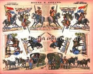 Imagen 4.- Plancha nº 2014 representando un grupo de caballería del Ejército Boer (FDRF)