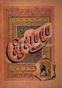 "Imagen 9.- Potada del primer catálogo de la etapa ""Hijos de Paluzie"" de 1901 (FDRF)"